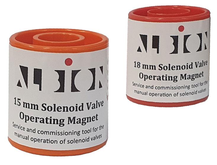 Magnets to suit Albion's solenoid valve range