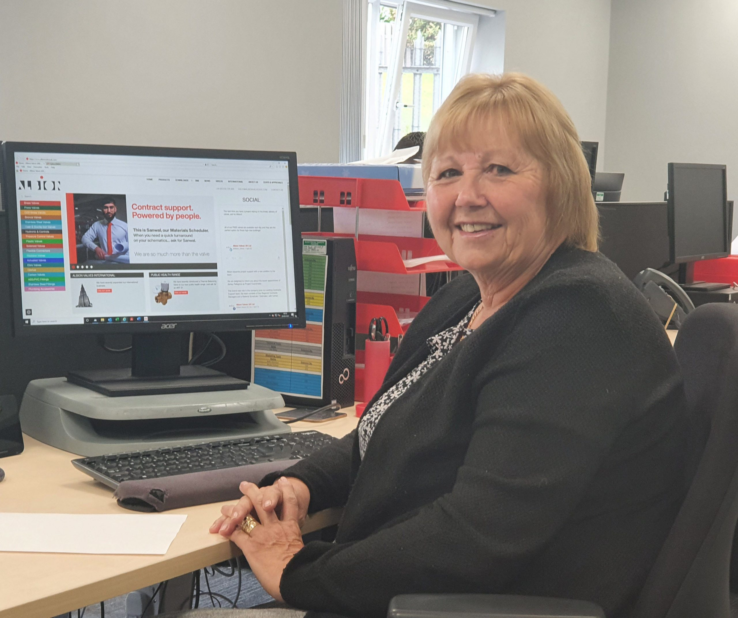 Margery Booth - Albion's Internal Sales Administrator